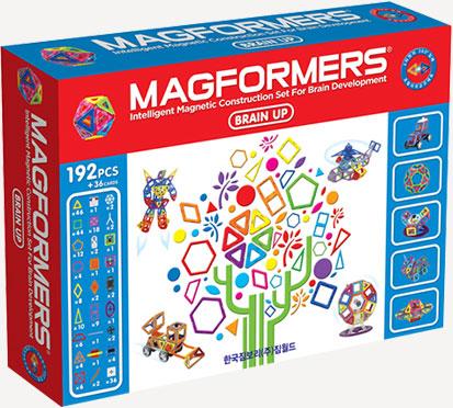 Магнитный конструктор Магформерс Брейн Ап 192 детали артикул 63083, - фото 1