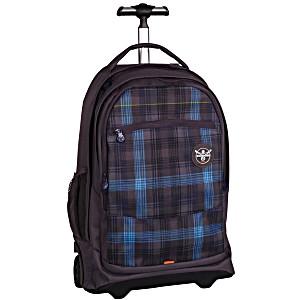 Подростковый рюкзак на колесах Chiemsee Синяя Клетка